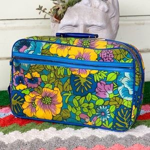 Vintage 60's Made in Japan Flower Power Suitcase